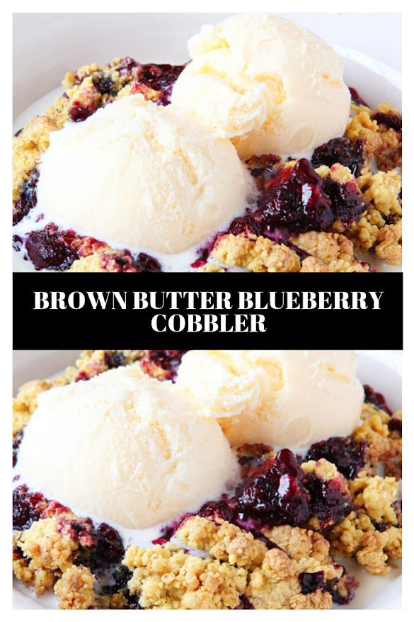 Brown Butter Blueberry Cobbler