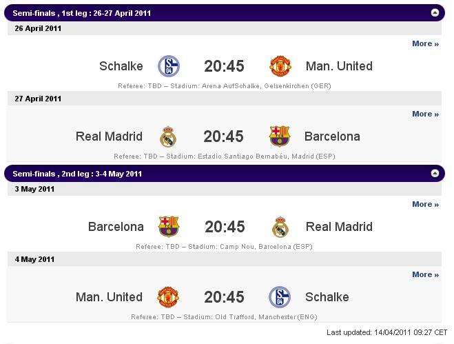 Jadwal Liga Champions: Final Liga Champions 2011