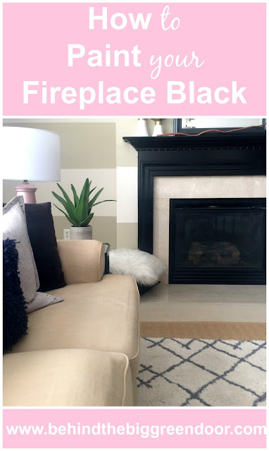 How to Paint Your Fireplace - Black