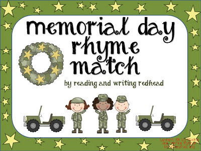 Memorial Day Rhyming FREEBIE