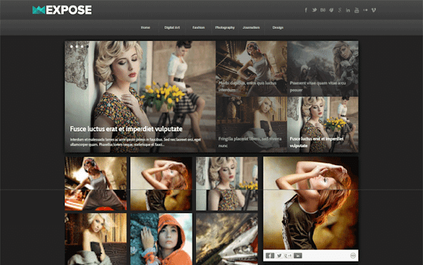 Expose Free Blogger Template