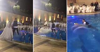 Νύφη έπεσε στην πισίνα με το νυφικό της. Όταν ο γαμπρός & οι καλεσμένοι είδαν ότι δεν βγαίνει στη επιφάνεια, πάγωσαν