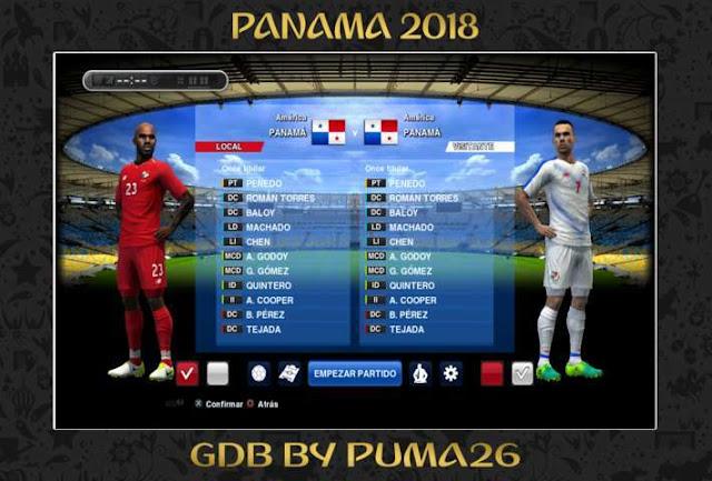 Panama 2018 Kit PES 2013