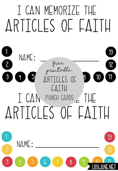 photograph relating to Articles of Faith Printable referred to as Articles or blog posts of Religion Printables