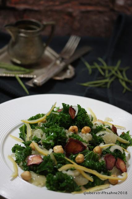 Grünkohl Zubereitung als Salat