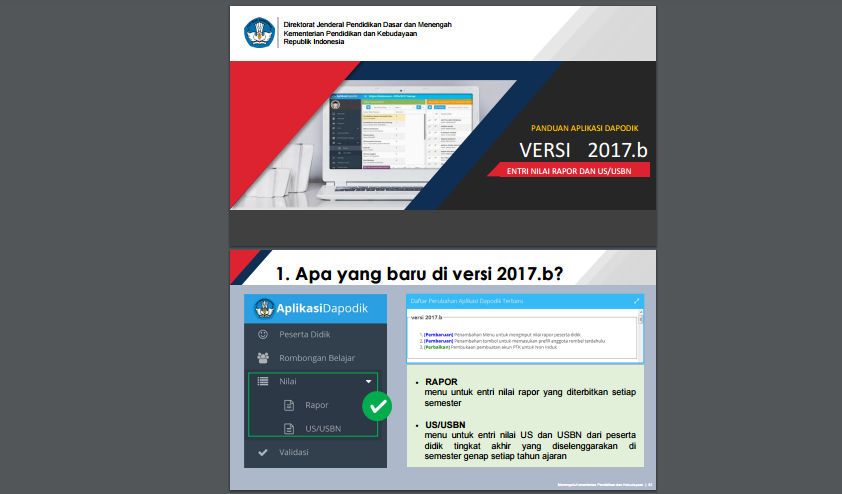 Download Panduan Aplikasi Dapodik Versi 2017 B Akademik Guru