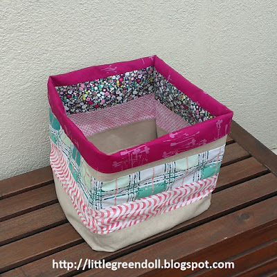 Cesta para lanas Fabric Basket for Yarns AGF Fabrics