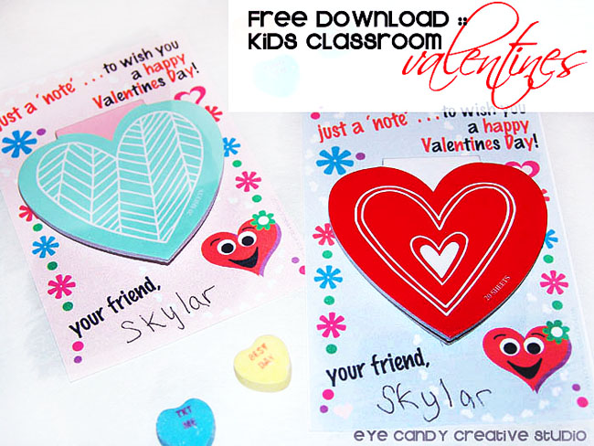 free dowmload, lids classroom valentines, non candy valentine idea