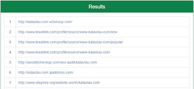 kalautau.com - Mengetahui Jumlah Backlink di Small Seo Tools