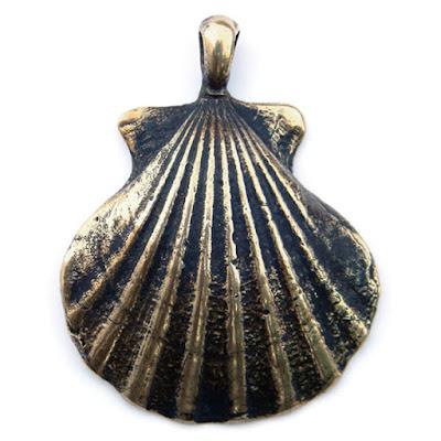 подвеска ракушка купить оберег раковина святого иакова украшения из бронзы