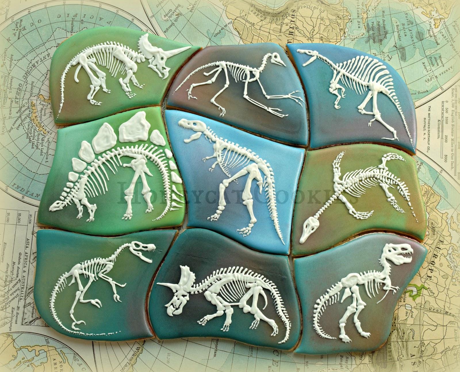 Dinosaur Skeleton Cookiesaw Cookie Jigsaw Puzzle