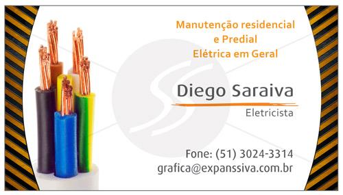 cartoes de visita eletricistas fios desencapados - Cartões de Visita para Eletricistas, Criativos e plugados