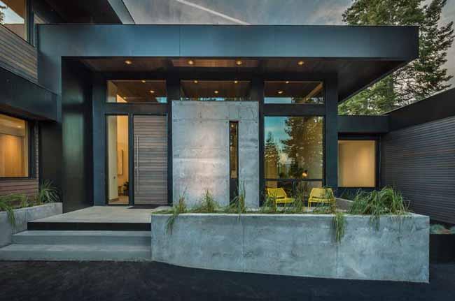 Casas minimalistas y modernas accesos modernos y minimalistas for Mejores fachadas de casas modernas