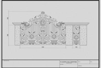 design pintu gerbang besi tempa adalah pintu gerbang klasik