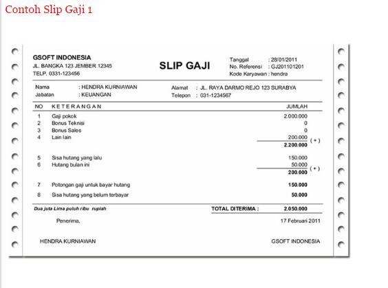 Contoh Slip Gaji Guru September 2016 Contoh Surat Terbaru