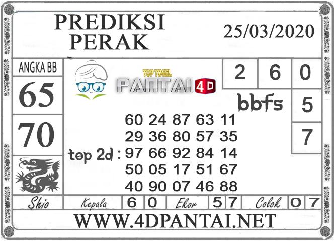 PREDIKSI TOGEL PERAK PANTAI4D 25 MARET 2020