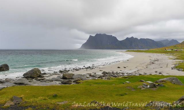 挪威,  羅浮敦群島, lofoten island, norway, Uttakleiv beach