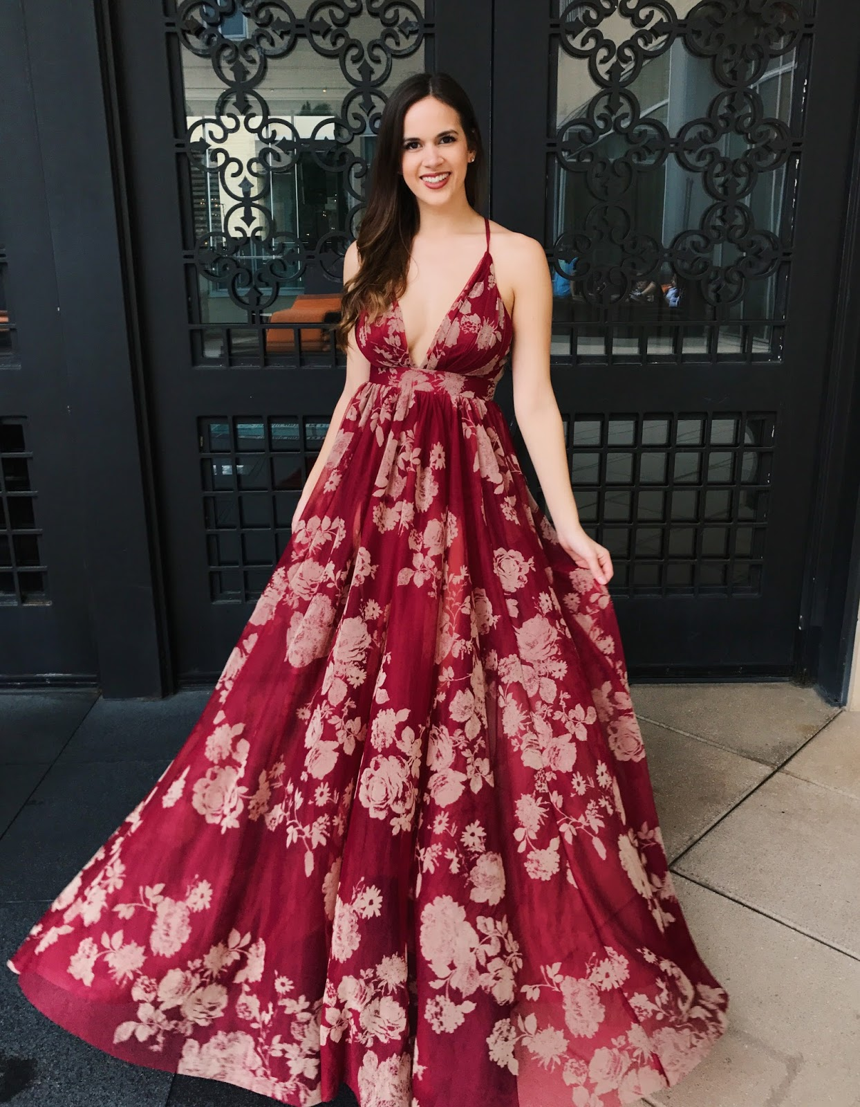 Floral Gown Dress