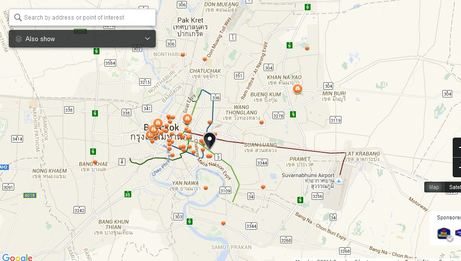The EmQuartier Bangkok Map Tourist Attractions in Bangkok – Tourist Attractions Map In Massachusetts