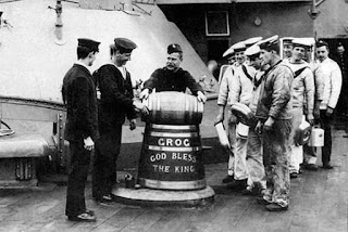 Ración de Grog para los marineros