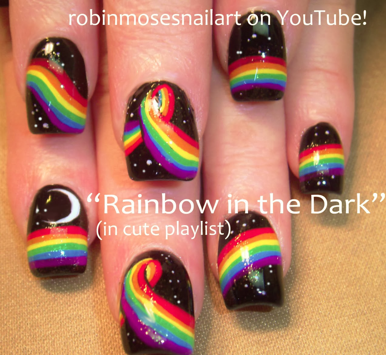 "Robin Moses Nail Art: ""rainbow nails"" ""rainbow nail art"