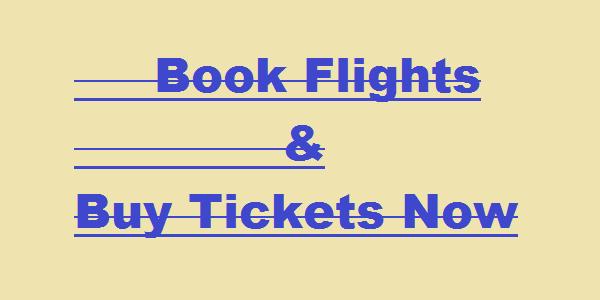 Buy Plane Tickets Now