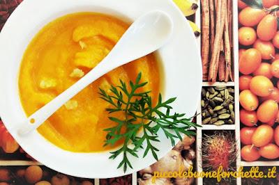 foto Ricetta vellutata estiva di carote al profumo di zenzero per bambini