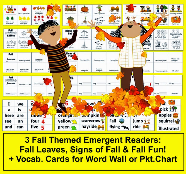 http://www.teacherspayteachers.com/Product/Fall-Emergent-Readers-3-Different-Books-4-Versions-of-Each-12-Books-332673