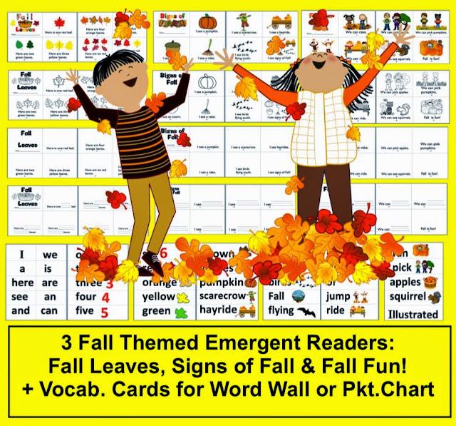 http://www.teacherspayteachers.com/Product/Fall-Emergent-Readers-3-Different-Books-4-Versions-of-Each-12-Books-332673