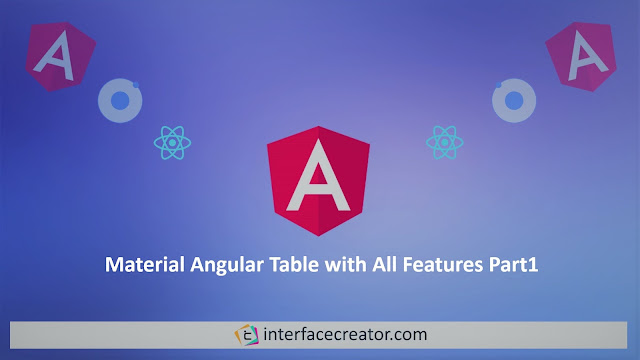 Material Angular Table Pagination,Material Angular Table, Part 1
