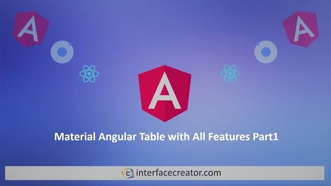 Material Angular Table Pagination,Material Angular Table, Part 1