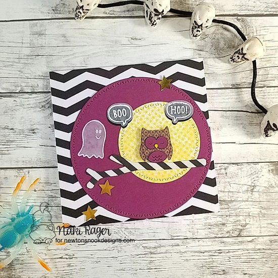 Halloween Boo Hoo Card by Naki Rager | Boo Hoo Stamp Set by Newton's Nook Designs #newtonsnook #handmade #halloween