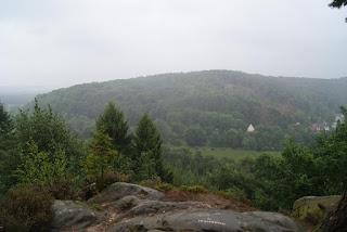 Nebeliger Ausblick vom Drei Kaiserstuhl (Dörenther Klippen)
