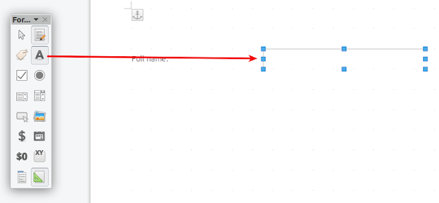 Libreoffice insert text box
