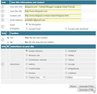 contoh privacy policy website