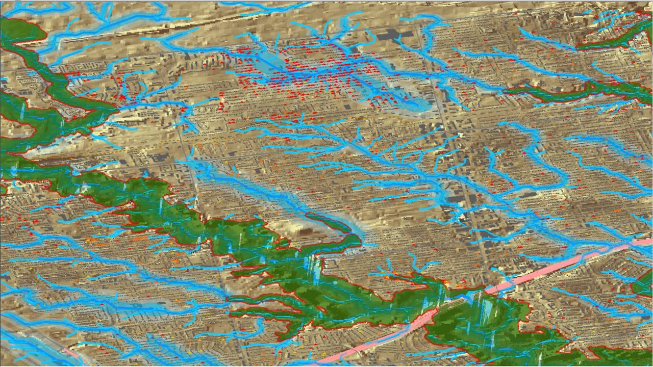 CityFloodMapCom City Of Toronto Overland Flow Map Year - Storm map