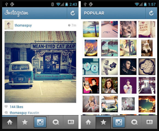 Instagram for Android Gets Tablet