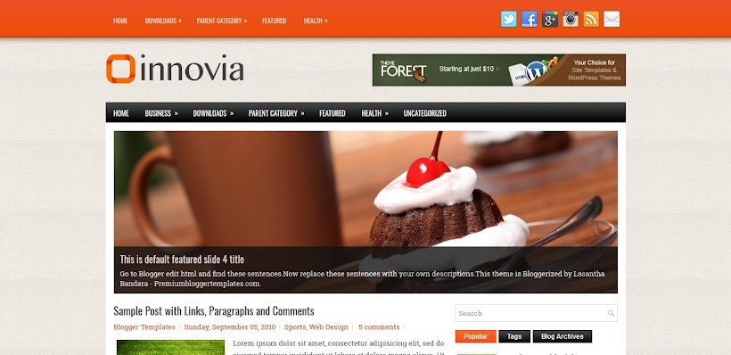 Innovia Free Blogger Template