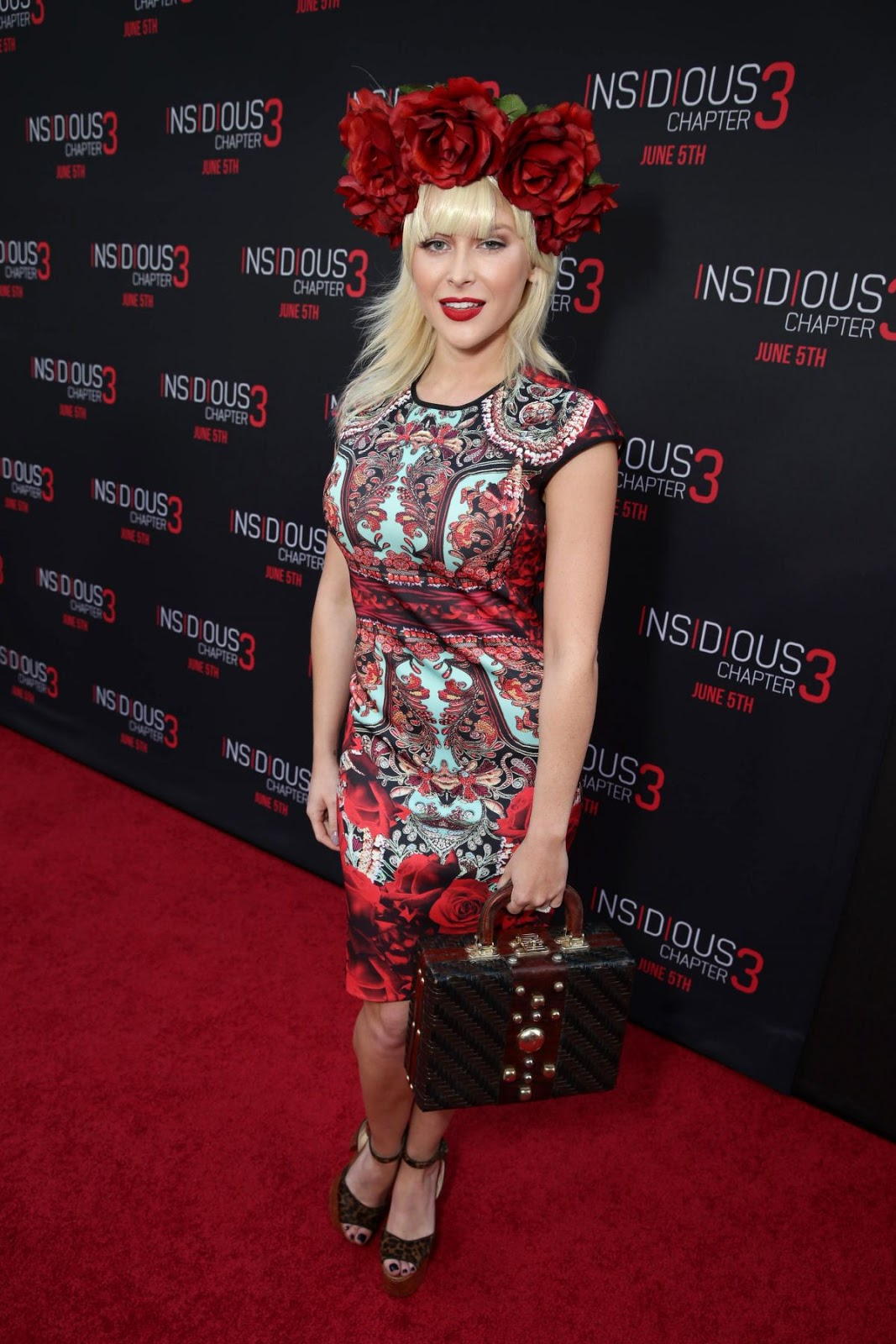 HQ Photos of Renee Olstead in Hot red dress At Insidious Chapter 3 Premiere In Hollywood