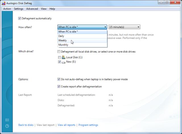 Auslogics Disk Defrag (Software Defrag PC Gratis)
