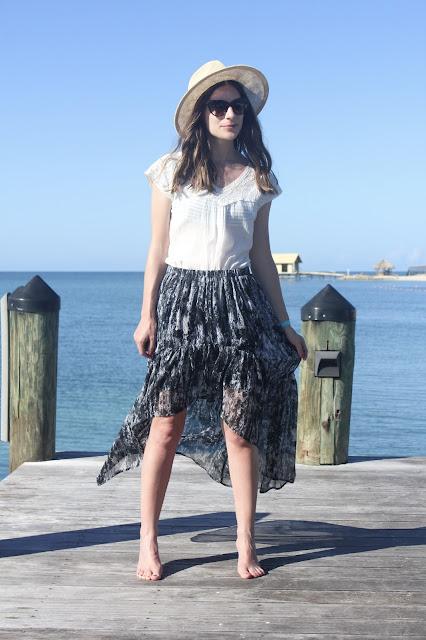 High-Low Breezy Skirt