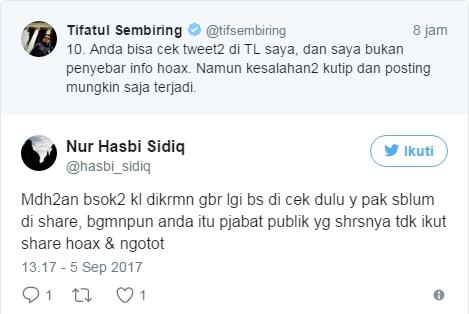 Tifatul Sembiring Bantah Penyebar Info Hoax, Netizen: Bapak Saudaraan Sama Jonru Ginting Ya?