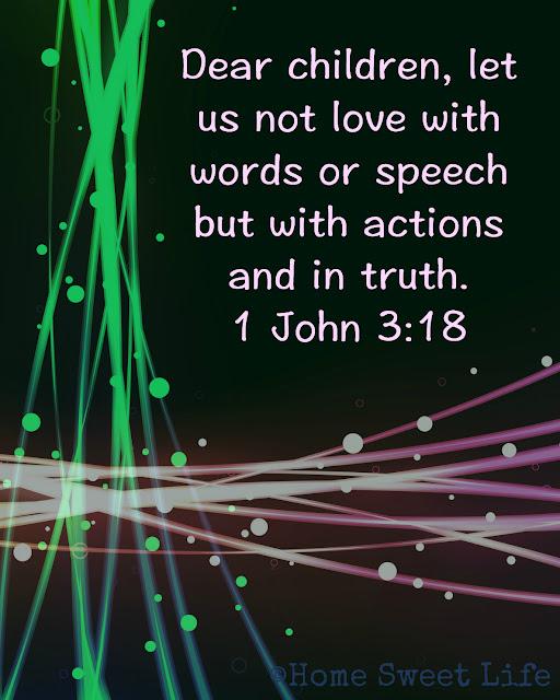 1 John 3:18, Christian encouragement