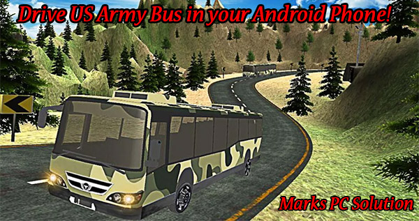 Drive US Army Bus in your Android Device