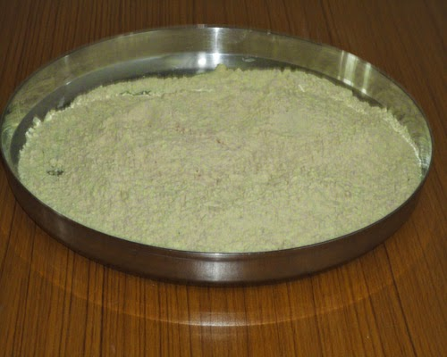 rub the butter to the chakli flour