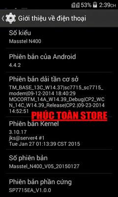 Rom Masstel N400 sc7715 4.4.2 alt