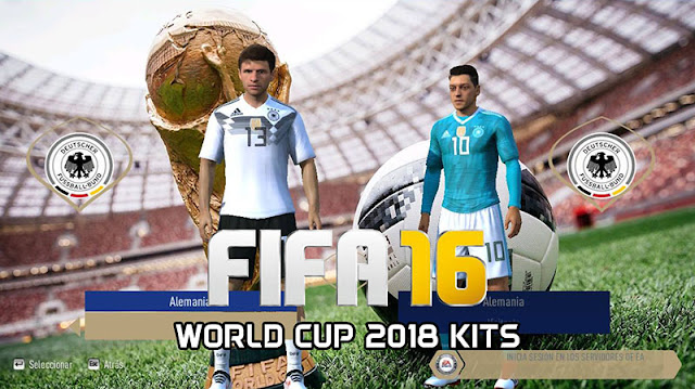 World Cup 2018 Kits Fifa 2016