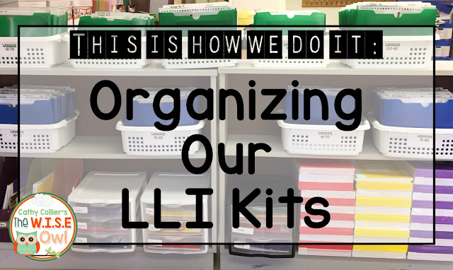 "LLI is an amazing Tier 2 intervention at my school, but it comes with LOTS of ""stuff."" This post gives some organization ideas for this great program."