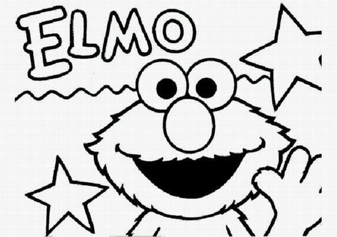 Elmo coloring pages learn to coloring for Cookie monster halloween coloring pages