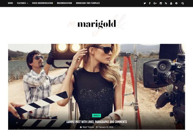Marigold Blogger Theme